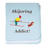Skijoring Dog Addict baby blanket