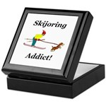 Skijoring Dog Addict Keepsake Box