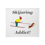 Skijoring Dog Addict Throw Blanket