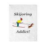 Skijoring Dog Addict Twin Duvet