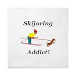 Skijoring Dog Addict Queen Duvet