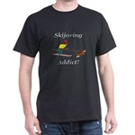 Skijoring Dog Addict Dark T-Shirt