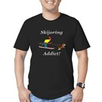 Skijoring Dog Addict Men's Fitted T-Shirt (dark)