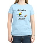 Skijoring Dog Addict Women's Light T-Shirt