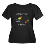 Skijoring Dog Addict Women's Plus Size Scoop Neck