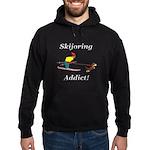 Skijoring Dog Addict Hoodie (dark)