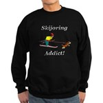 Skijoring Dog Addict Sweatshirt (dark)