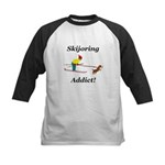 Skijoring Dog Addict Kids Baseball Jersey
