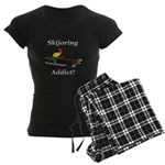Skijoring Dog Addict Women's Dark Pajamas