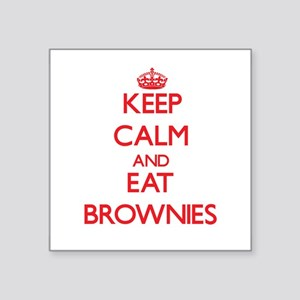 Keep calm and eat Brownies Sticker