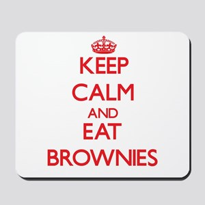 Keep calm and eat Brownies Mousepad