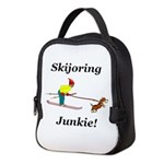 Skijoring Dog Junkie Neoprene Lunch Bag
