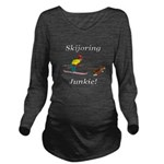 Skijoring Dog Junkie Long Sleeve Maternity T-Shirt