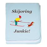 Skijoring Dog Junkie baby blanket