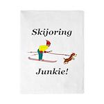 Skijoring Dog Junkie Twin Duvet