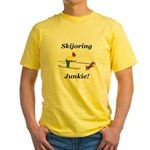 Skijoring Dog Junkie Yellow T-Shirt