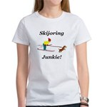 Skijoring Dog Junkie Women's T-Shirt