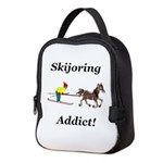 Skijoring Horse Addict Neoprene Lunch Bag