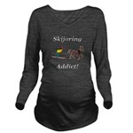 Skijoring Horse Addict Long Sleeve Maternity T-Shi