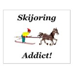 Skijoring Horse Addict Small Poster