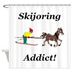 Skijoring Horse Addict Shower Curtain