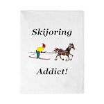 Skijoring Horse Addict Twin Duvet