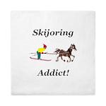 Skijoring Horse Addict Queen Duvet