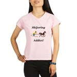 Skijoring Horse Addict Performance Dry T-Shirt