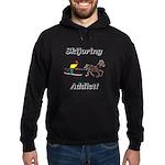 Skijoring Horse Addict Hoodie (dark)