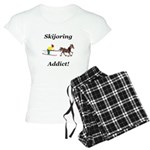 Skijoring Horse Addict Women's Light Pajamas