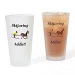 Skijoring Horse Addict Drinking Glass