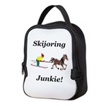 Skijoring Horse Junkie Neoprene Lunch Bag