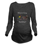 Skijoring Horse Junkie Long Sleeve Maternity T-Shi
