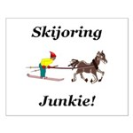 Skijoring Horse Junkie Small Poster