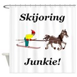 Skijoring Horse Junkie Shower Curtain