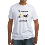 Skijoring Horse Junkie Fitted T-Shirt