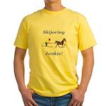 Skijoring Horse Junkie Yellow T-Shirt