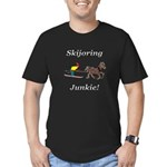 Skijoring Horse Junkie Men's Fitted T-Shirt (dark)