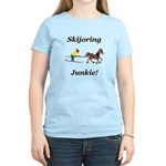 Skijoring Horse Junkie Women's Light T-Shirt