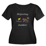 Skijoring Horse Junkie Women's Plus Size Scoop Nec