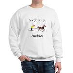 Skijoring Horse Junkie Sweatshirt