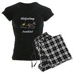 Skijoring Horse Junkie Women's Dark Pajamas