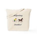 Skijoring Horse Junkie Tote Bag