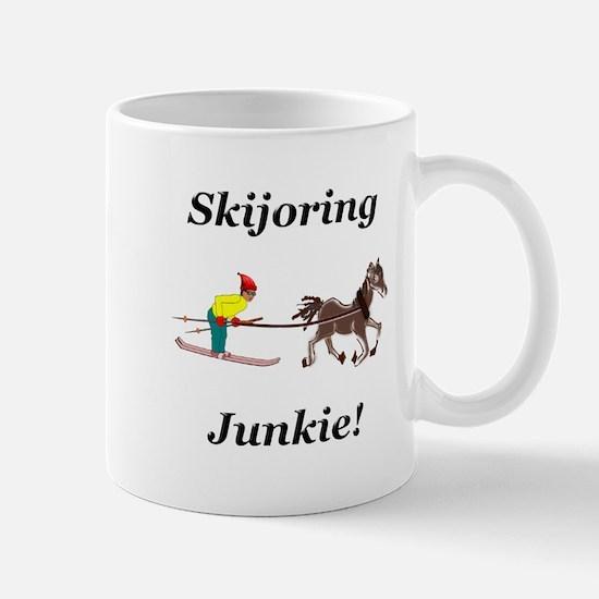 Skijoring Horse Junkie Mug