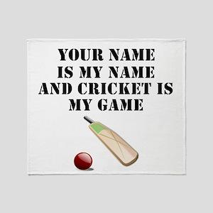 Cricket Is My Game (Custom) Throw Blanket