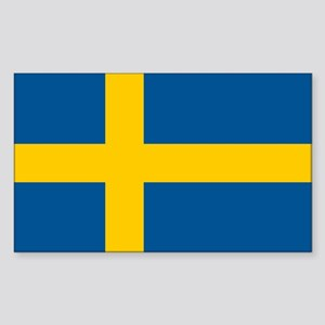 Sweden Flag Sticker (Rectangle)