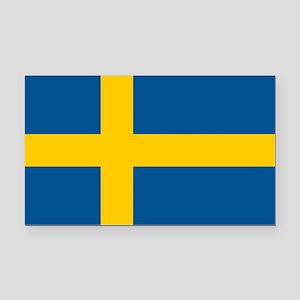 Sweden Flag Rectangle Car Magnet