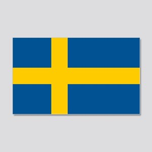 Sweden Flag 20X12 Wall Decal