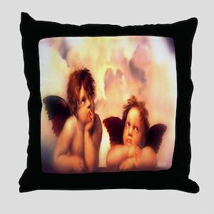 Putti Pair Angels Throw Pillow