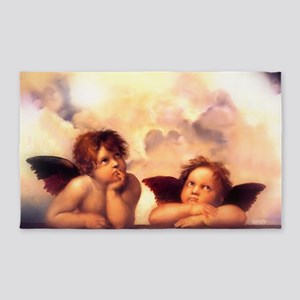 Putti Pair Angels Area Rug